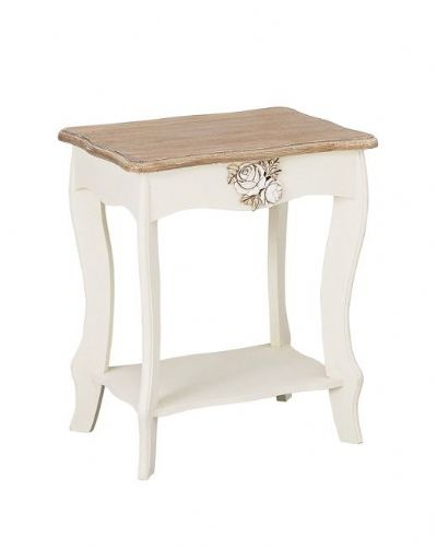 Marseilles White Lamp Table